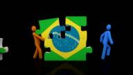 Brazil puzzle. Black background video