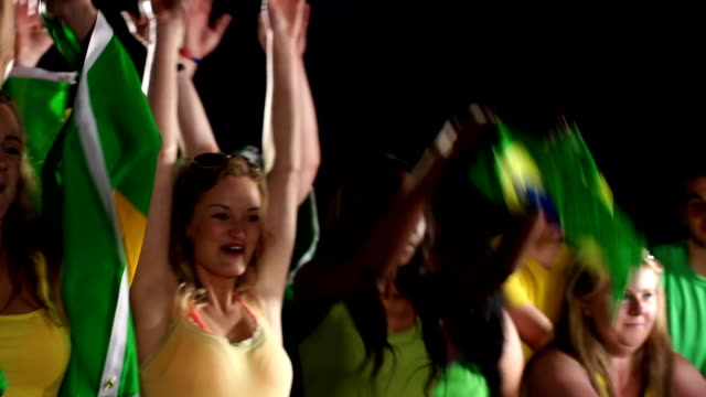 Brazil Soccer / Football fans perform Mexican Wave video