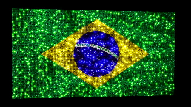 Brazilian flag. Sequins. Loopable. video