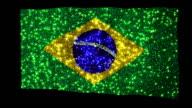 Brazilian flag. Sequins. Loopable. video
