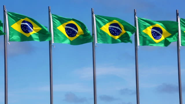 Brazilian flags video