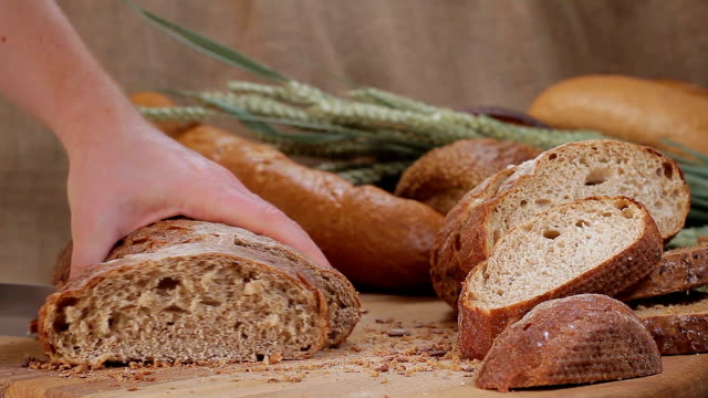 Bread from wholemeal video