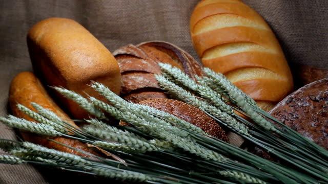 Bread still life video