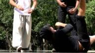 Break Dancer Spinning On Ground video