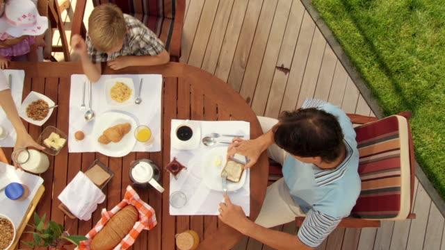HD CRANE: Breakfast On The Terrace video