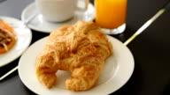 Breakfast set Served High-definition video Pan video
