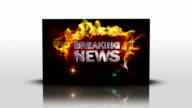 Breaking News Text in Falling Cubes, Loop video