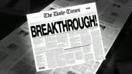 Breakthrough! - Newspaper Headline video