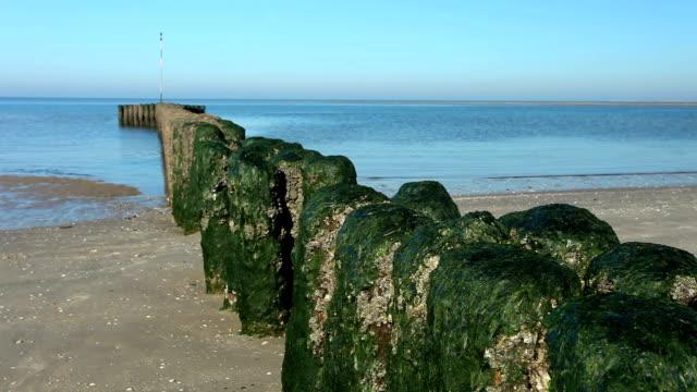 breakwater on the beach video