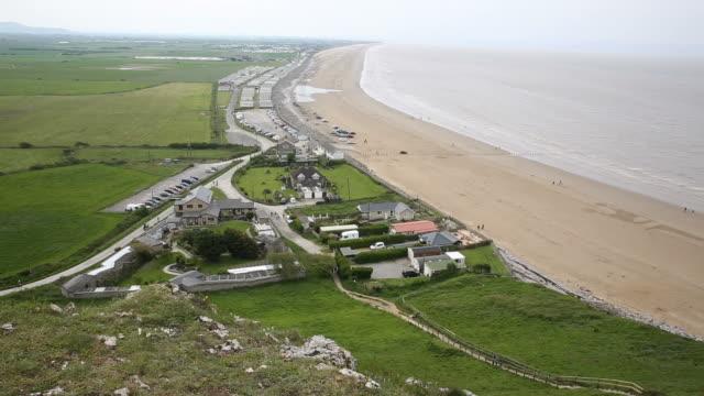 Brean beach Somerset England near Weston-super-mare and Burnham on Sea video