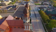 Breathtaking Aerial Tour Fly-Around Twin Steeple Church Architecture video