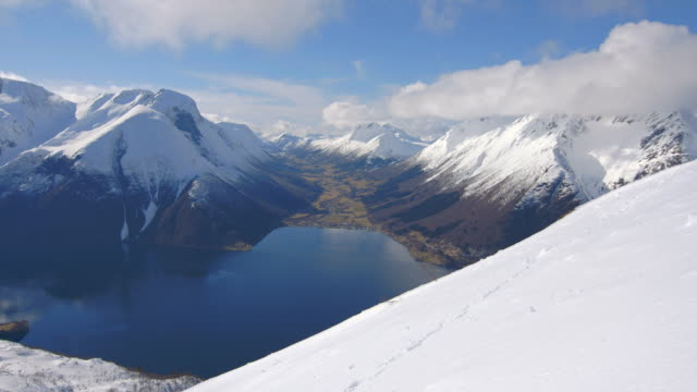 Breathtaking view at a Norwegian fjord video