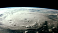 Breathtaking view of a menacing hurricane as seen from space video