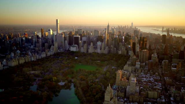 breathtaking view of modern city metropolis. flying over city. urban landmark cityscape view video