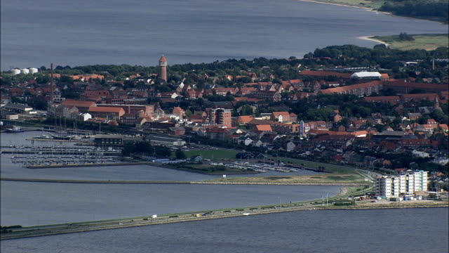 Bremdal And Struer  - Aerial View - Central Jutland,  Struer Kommune,  Denmark video