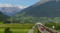 Brennerautobahn through Wipp Valley in South Tyrol video