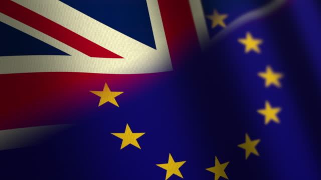 Brexit Flag - loop. 4K video