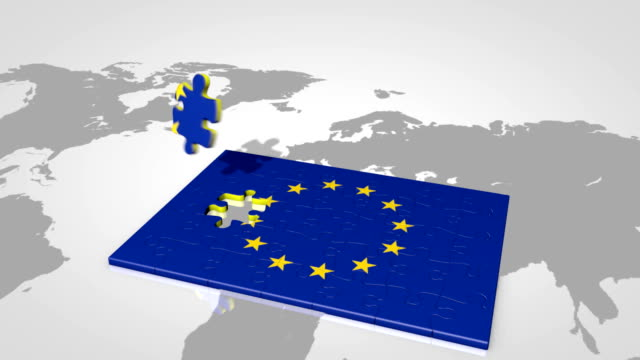 Brexit. United kingdom and European union, referendum to leave the EU. video