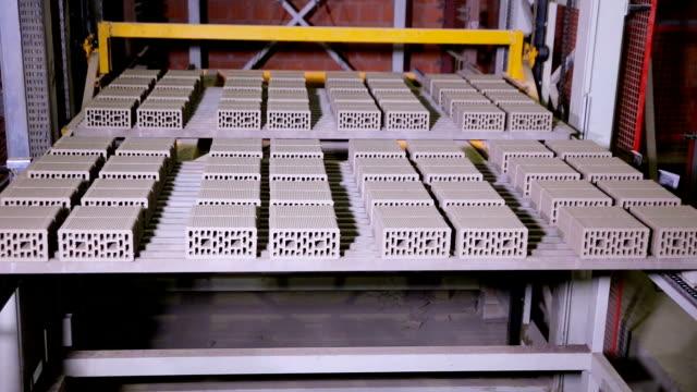 Bricks on the conveyor belt video