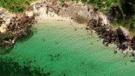 Brid eye view of pattaya beach, Thailand. video
