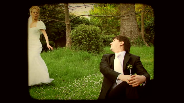 Bridal dance. Old movie video