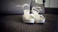 Bridal shoes with rings - stock wedding video video