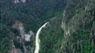 Bridal Veil Falls  - Aerial View - South Dakota,  Lawrence County,  United States video