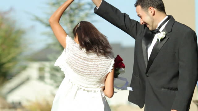 Bride and groom at wedding dance video