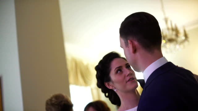 Bride and groom dancing waltz video
