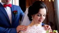 bride and groom enjoy time together video