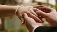 Bride And Groom Exchange Rings (HD) video