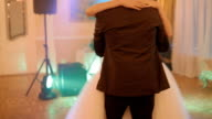 Bride and groom in first wedding dance video