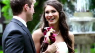 Bride and groom on their wedding day video