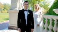 Bride and groom outdoor video