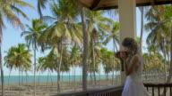 Bride holding a bouquet video