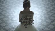 Bride In Wedding Dress With Bridal Bouquet video