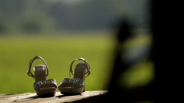 Bride shoes - Stock Footage video