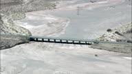 Bridge at Spurlock Tank Highway 77 - Aerial View - Arizona,  Navajo County,  United States video
