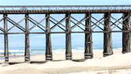 Bridge MacKerricher State Park Ft Bragg beach California recreation HD video