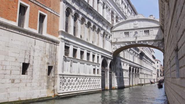 Bridge of Sighs in Venice, Italy video