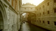Bridge of Sighs in Venice - Venezia Landmark video