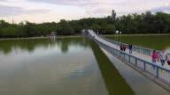 Bridge on artificial lake video