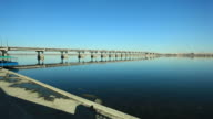 Bridge On Dnjepar River In Dnepropetrovsk, Ukraine video