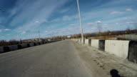 Bridge over river in city video