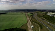Bridge over River Medway at Rochester - Aerial View - England, Kent, United Kingdom video