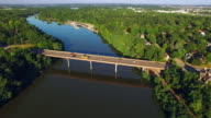 Bridge over Scenic Fox River on Summer Morning, Appleton, Wisconsin. video