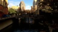 Bridge over the Riverwalk in San Antonio video