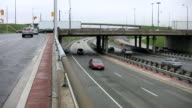 Bridge overpass and traffic. video