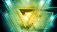 Bright abstract triangles video animation video