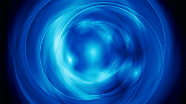 Bright blue abstract rotation video clip video